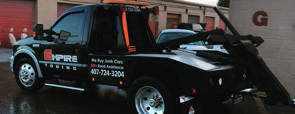 Orlando Towing Service Black Tow Truck - Empire Towing, LLC
