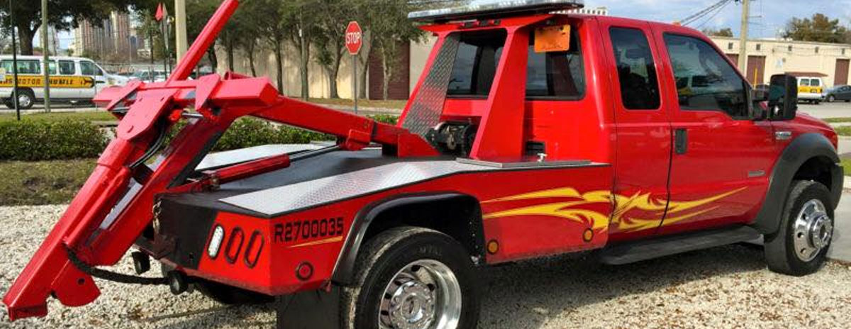 Orlando Towing Service Red Tow Truck - Empire Towing, LLC